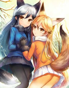 Rating: Safe Score: 47 Tags: animal_ears ass ezo_red_fox kemono_friends pantyhose sakura_ani silver_fox tail User: Mr_GT
