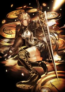 Rating: Safe Score: 47 Tags: armor dress heels neko ricci sword thighhighs User: Aneroph