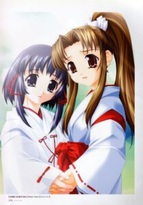 Rating: Safe Score: 8 Tags: miko symmetrical_docking tajima_nao towazuki_no_miko User: MirrorMagpie