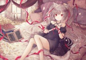 Rating: Safe Score: 19 Tags: animal_ears dress nekomimi skirt_lift tail weapon yenshin User: KazukiNanako