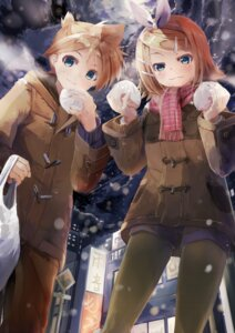 Rating: Safe Score: 25 Tags: daidou kagamine_len kagamine_rin pantyhose vocaloid User: fairyren