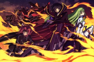 Rating: Safe Score: 18 Tags: c.c. code_geass kallen_stadtfeld lelouch_lamperouge mecha nakatani_seiichi User: Aurelia