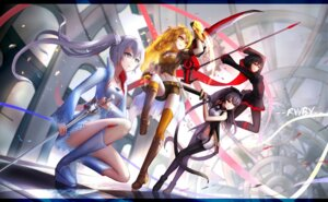 Rating: Safe Score: 38 Tags: blake_belladonna hc pantyhose ruby_rose rwby sword thighhighs weiss_schnee yang_xiao_long User: zyh0403