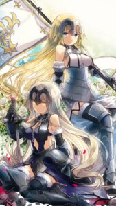 Rating: Safe Score: 27 Tags: armor cleavage dress fate/grand_order heels ruler_(fate/apocrypha) sword thighhighs yumeichigo_alice User: charunetra