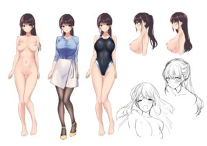 Rating: Explicit Score: 69 Tags: amagi_shino character_design heels naked nipples pantyhose pussy sketch swimsuits topless User: hiroimo2
