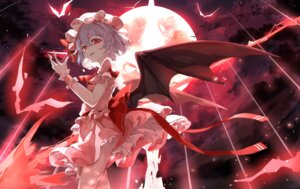 Rating: Safe Score: 38 Tags: remilia_scarlet skirt_lift tagme touhou wings User: BattlequeenYume