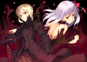 Rating: Questionable Score: 55 Tags: dark_sakura fate/stay_night kinta_(distortion) matou_sakura saber saber_alter User: 椎名深夏
