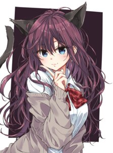 Rating: Safe Score: 47 Tags: animal_ears ichinose_shiki nekomimi nikotamu seifuku sweater tail the_idolm@ster the_idolm@ster_cinderella_girls User: Mr_GT