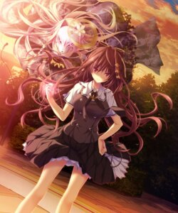 Rating: Safe Score: 85 Tags: chrono_clock game_cg jounouchi_makoto koku purple_software seifuku User: Mr_GT