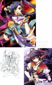 Rating: Safe Score: 6 Tags: cleavage kanu koihime_musou ryuuga_shou sengoku_rance sword thighhighs yamamoto_isoroku_(rance) User: RuriRuri