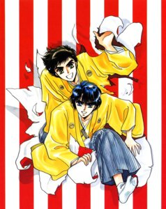 Rating: Safe Score: 2 Tags: clamp duklyon higashikunimaru_kentarou male shuukaidou_takeshi User: Share