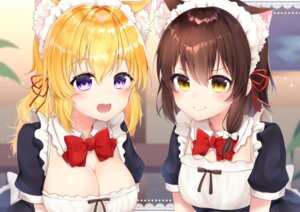 Rating: Safe Score: 32 Tags: animal_ears cleavage maid maribel_han shiarisu touhou usami_renko User: Mr_GT