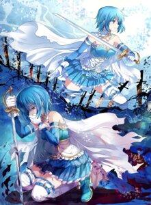 Rating: Safe Score: 22 Tags: miki_sayaka pico_(artist) puella_magi_madoka_magica sword thighhighs User: Nekotsúh