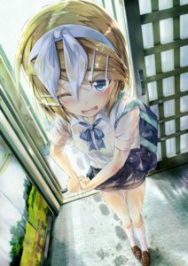 Rating: Safe Score: 76 Tags: daidou kagamine_rin see_through seifuku vocaloid wet wet_clothes User: aihost