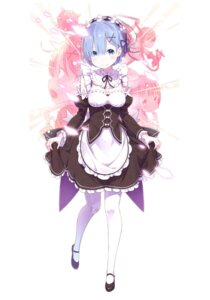 Rating: Safe Score: 52 Tags: cleavage horns maid ootsuka_shinichirou re_zero_kara_hajimeru_isekai_seikatsu rem_(re_zero) skirt_lift weapon User: NotRadioactiveHonest