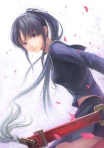 Rating: Safe Score: 47 Tags: ga-rei_zero isayama_yomi seifuku sword zhenlin User: fireattack