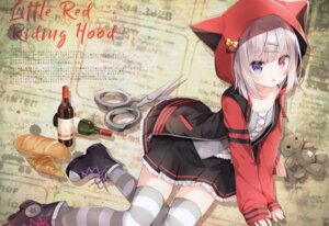 Rating: Safe Score: 57 Tags: heterochromia hoshi little_red_riding_hood_(character) thighhighs User: kiyoe
