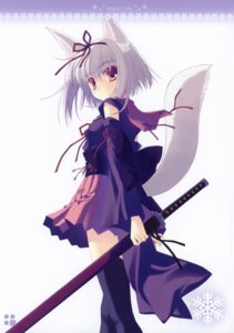 Rating: Safe Score: 39 Tags: animal_ears ice_&_choco nanao_naru sword tail thighhighs User: petopeto