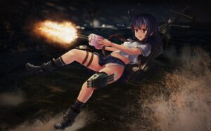 Rating: Questionable Score: 24 Tags: kantai_collection pantsu rodriguez_(kamwing) seifuku ushio_(kancolle) weapon User: Mr_GT