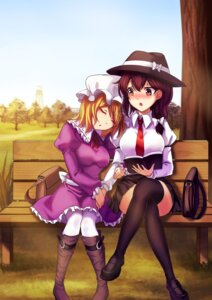 Rating: Safe Score: 18 Tags: dress koissa maribel_hearn pantyhose thighhighs touhou usami_renko User: Mr_GT