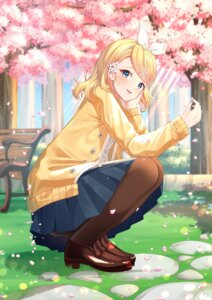 Rating: Safe Score: 9 Tags: heels kagamine_rin pantyhose rufe_0v0 skirt_lift sweater vocaloid User: Dreista