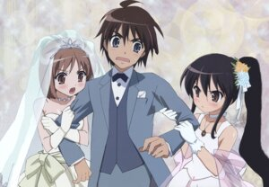 Rating: Safe Score: 18 Tags: dress ootsuka_mai sakai_yuuji shakugan_no_shana shana wedding_dress yoshida_kazumi User: Radioactive