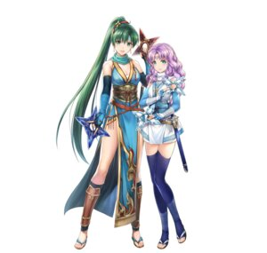 Rating: Questionable Score: 9 Tags: asian_clothes cleavage fire_emblem fire_emblem:_rekka_no_ken fire_emblem_heroes florina lyndis_(fire_emblem) ninja nintendo sarashi sword thighhighs weapon yamada_koutarou User: fly24