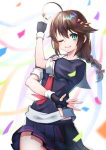 Rating: Safe Score: 15 Tags: kantai_collection seifuku shigure_(kancolle) sho_(sumika) skirt_lift User: Dreista