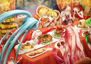 Rating: Safe Score: 20 Tags: christmas cleavage dress gumi hatsune_miku horns kagamine_len kagamine_rin sunday_haruko vocaloid User: Mr_GT