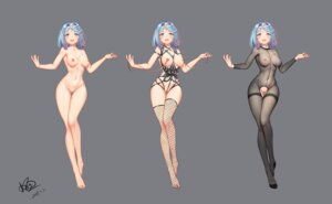 Rating: Explicit Score: 56 Tags: bodysuit breasts character_design fishnets konishi_(565112307) lingerie naked nipples no_bra nopan pussy see_through thighhighs uncensored User: BattlequeenYume