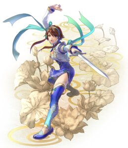 Rating: Safe Score: 9 Tags: asian_clothes chai_xianghua cleavage kawano_takuji namco soul_calibur soul_calibur_vi sword thighhighs User: Yokaiou