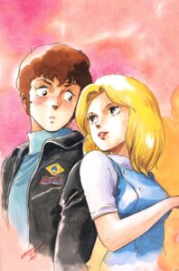 Rating: Safe Score: 3 Tags: amuro_ray beltorchika_irma gundam kitazume_hiroyuki zeta_gundam User: Radioactive