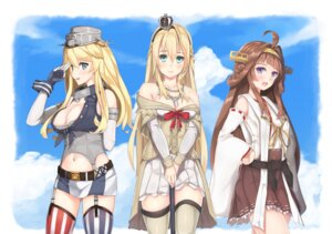 Rating: Safe Score: 31 Tags: cleavage iowa_(kancolle) kantai_collection kongou_(kancolle) ryouya stockings thighhighs warspite_(kancolle) User: Mr_GT