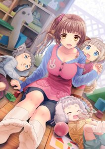 Rating: Safe Score: 55 Tags: animal_ears cleavage feet kurobuta_gekkan tail User: Mr_GT