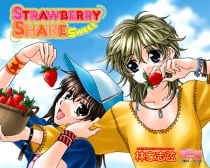 Rating: Safe Score: 6 Tags: asakawa_ran hayashiya_shizuru strawberry_shake_sweet tachibana_julia wallpaper yuri User: blooregardo