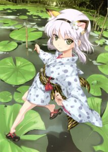 Rating: Safe Score: 100 Tags: animal_ears happoubi_jin toranoana yukata User: cyberwire