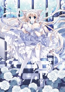 Rating: Safe Score: 29 Tags: animal_ears dress nekomimi ryuuga_shou stockings tail thighhighs User: fairyren