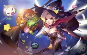 Rating: Safe Score: 51 Tags: cleavage halloween mercy_(overwatch) overwatch thighhighs tracyton wings witch User: Mr_GT