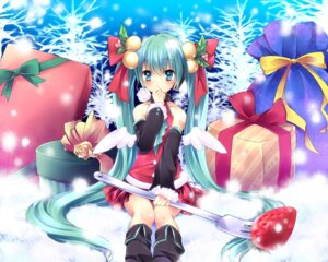 Rating: Safe Score: 54 Tags: christmas hatsune_miku sorai_shinya vocaloid wallpaper wings User: fairyren