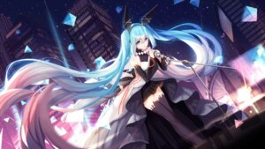 Rating: Safe Score: 68 Tags: bison dress hatsune_miku thighhighs vocaloid wallpaper User: charunetra