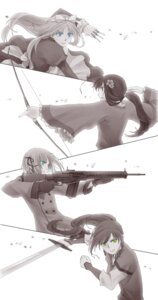 Rating: Safe Score: 9 Tags: belarus chigu gun hetalia_axis_powers hungary liechtenstein monochrome sword taiwan User: charunetra