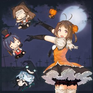 Rating: Safe Score: 31 Tags: bloomers halloween jintsu_(kancolle) kanamura_will kantai_collection naka_(kancolle) seifuku sendai_(kancolle) thighhighs wo-class_aircraft_carrier User: Mr_GT