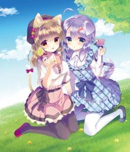 Rating: Safe Score: 30 Tags: animal_ears dress inumimi nekomimi pantyhose tail takashina_asahi User: sym455