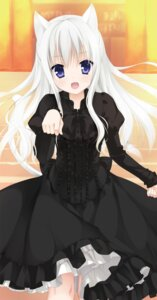 Rating: Questionable Score: 88 Tags: aliasing animal_ears dress hidan_no_aria jeanne_d'arc jeanne_d'arc_(hidan_no_aria) kobuichi nekomimi tail User: Twinsenzw