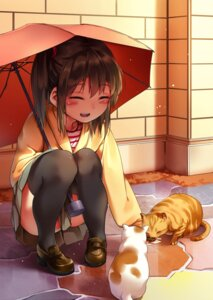 Rating: Safe Score: 32 Tags: chen_bin neko thighhighs umbrella User: Mr_GT