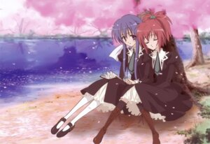 Rating: Safe Score: 15 Tags: aoi_nagisa sakai_kyuuta seifuku strawberry_panic suzumi_tamao User: blooregardo