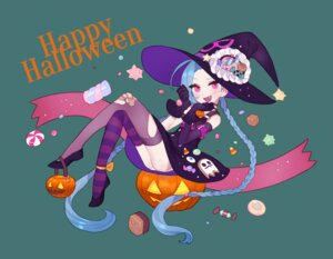 Rating: Safe Score: 33 Tags: bandaid dress halloween jinx league_of_legends omyo pantsu thighhighs torn_clothes wings witch User: Mr_GT