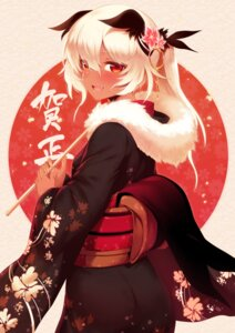 Rating: Safe Score: 46 Tags: animal_ears black_rock_shooter kimono rogia strength User: Mr_GT