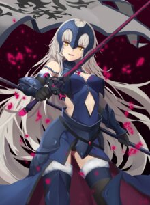 Rating: Safe Score: 42 Tags: armor cleavage fate/grand_order jeanne_d'arc jeanne_d'arc_(alter)_(fate) pantsu sword tagme thighhighs User: Nepcoheart