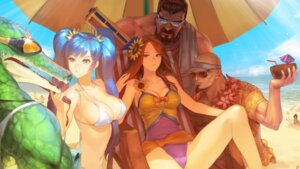 Rating: Questionable Score: 77 Tags: bikini cleavage erect_nipples graves instant-ip league_of_legends lee_sin leona renekton sona_buvelle swimsuits wallpaper User: fairyren